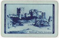 Playing Cards 1 Single Card Old LNER Railway Train Advertising BAMBURGH CASTLE 2
