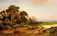 Dream-art Oil painting Daniel Sherrin - a wooded landscape with a lake in oil