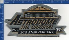 Authentic MLB- Houston Astros Astrodome The Original 30th Ann. patch on gray NOS