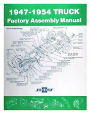 1947-1954 Chevy Truck Factory Assembly Manual Restoration Guide Book 3100
