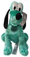 Disney Store Pluto Dog Medium Plush Aqua Green Velvet Soft Cuddly Toy Teddy