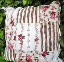 Kissenbezug ELENA Rosen 40x40 Creme Rot Blumen floral Landhausstil Shabby