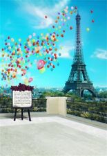 Eiffel Tower Baby Birthday Backdrop Photo Background Vinyl 2x3ft Studio Props