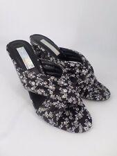 Daisy Street Ditsy Floral Mule Heeled Sandals UK 6 EU 39 LN30 54