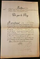 KING LOUIS XV AUTOGRAPH on the Marine Pension Payment Order - January 31, 1773