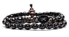 AUTENTICO TAMASHII BRACCIALE TIBET ONICE 2 GIRI  Amuleto dei Monaci BHS600-1