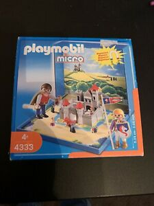 PLAYMOBIL MICRO MEDIEVAL CASTLE 4333 MAGNETIC BRAND NEW AND SEALED