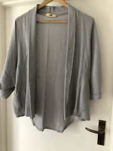 Grey Cotton/linen Jacket From Goose Island Size M