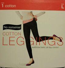 BRAND NEW!  NO NONSENSE 1 pair COTTON LEGGINGS  SIZE  L
