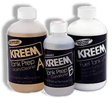 Motorcycle Fuel Gas Tank Rust Sealer Leak Fix KREEM Kit 3-Stage Process EASY DIY