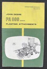 John Deere 4010 4020 Tractor Pa802 Pa803 Pa804 Pa807 Corn Cotton Planter Manual