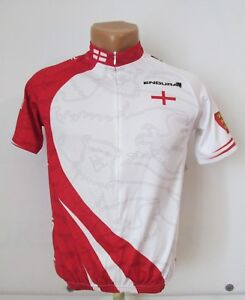 TEAM ENGLAND ROAD CYCLING SHIRT JERSEY MAGLIA MAILLOT ENDURA ST GEORGE ADULT S