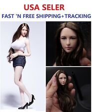 Dreamer 1/6 SCALE Female Head sculpt Long hair for PALE Phicen