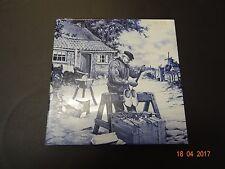 Vintage Dutch BLUE Delft Style 15 cm Square WALL TILE Royal Mosa Holland