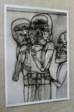 Original Poster Printout of Zdzisław Beksinski drawing on satin paper 4