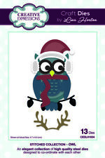 Creative Expressions Stitched Collection - Owl Die Set CEDLH1004 Christmas