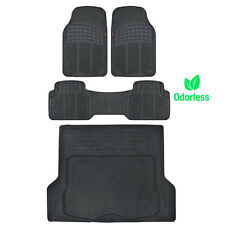 Weather-Free Odorless Mats Car Truck w/ Cargo Liner Motor Trend Husky Black