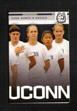 Connecticut Huskies--2009 Soccer Pocket Schedule--People's United Bank