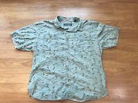 Reyn Spooner Hawaiian Aloha Shirt Mens Medium Green Dolphins Print XXL 2XL
