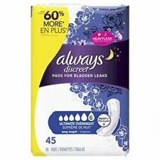 Always Discreet Ultimate Long Length Incontinence Pads 45 Count