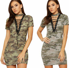 Camouflage Machine Washable Casual Dresses for Women
