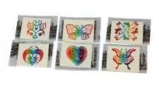 72 Rainbow Glitter Tattoos Parties Wholesale Favors
