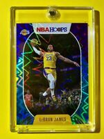 Lebron James RARE TEAL EXPLOSION REFRACTOR NBA HOOPS HOT LAKERS CARD - Mint!