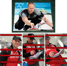 "BRAD JACOBS signed ""2014 SOCHI OLYMPICS"" 8X10 Photo PROOF (G) Gold Medal Curling"