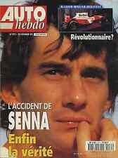 AUTO HEBDO n°971 du 22 Février 1995 L'ACCIDENT DE SENNA ENFIN LA VERITE