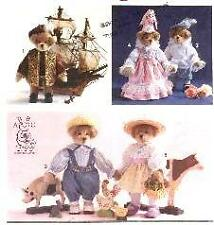 Simplicity 7711 Historic Jointed Bears & Clothes Pattern