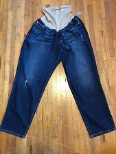 aa43fa5ec1d Indigo Blue 26W  2X Tall Women Maternity Pregnancy Pants Distressed