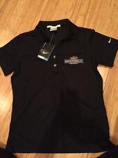 Nike Golf Shirt Polo Ghirardelli Chocolate Black Dri-Fit Women's Small NWT