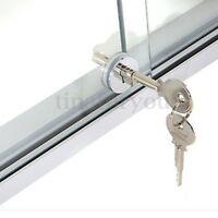 Sliding Glass Door Lock Reptile Vivarium Showcase Display Metal 2 Keys !