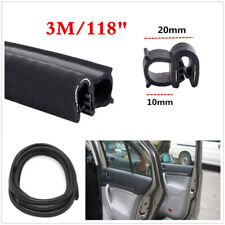Car Door Trim Edge Steel Lock Guard Moulding Rubber Seal Strip Protector 3M 118""