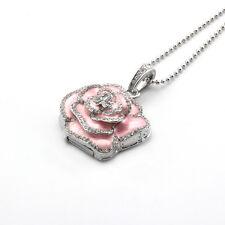 Fastdisk 8GB 2.0 USB Flash Memory Drive Pink Floral Crystal Necklace Gift U Disk