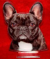 statuette photosculptée 10x15 cm chien bouledogue francais 9a dog hund perro