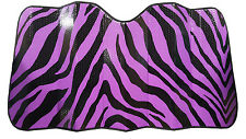 Purple and Black Zebra Windshield Sun Shade Visor Auto Car Truck SUV