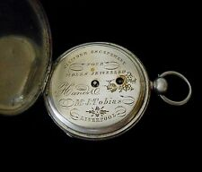 Tobias Pocket Watch from 1820 Hand Engraved Canal Scene