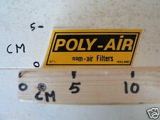 STICKER,DECAL POLY-AIR 3 FOAM-AIR FILTERS HOLLAND NOT 100 % OK