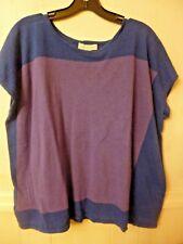 Women's Coldwater Creek knit sleeveless sweater blue/purple top cotton  XS/S