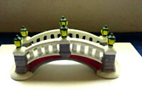 LEMAX 1994  Porcelain Holiday Arched Stone Bridge for Collecters