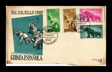 Dr Jim Stamps Elephants First Day Issue Spanish Guinea Combo Monarch Size Cover