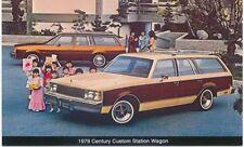 Buick Century Custom Station Wagon original USA issued Postcards 1979