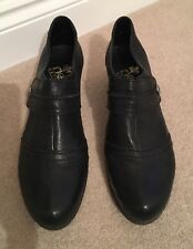 Rieker Ladies Black Leather Shoe Boots UK Size 7 (40) in Very Good Condition