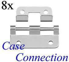 8x Aushängescharnier - klein - Stahl - verzinkt / Lift Off Hinges small Steel