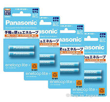 New 8 Panasonic Eneloop Lite Batteries AAA 5000 Times Rechargable Battery 550mAh