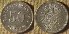 Germany : Empire 1876H  50 Pf.  CH.UNC Luster  #6   IR8560