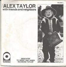 ALEX TAYLOR Highway song FRENCH SINGLE ATCO 1971