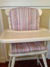 BRIGHT STRIPE High Chair Pads Child's Rocking Chair Cushions NWT