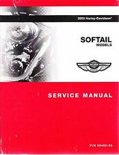2003 Harley Softail FLS FXC Repair Service Workshop Shop Manual Book 99482-03